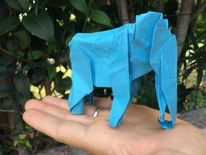 Elefante origami fatto dal Mago Dylan